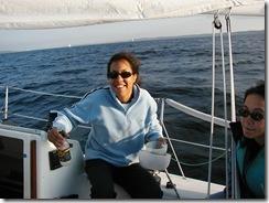 Laura Sokey - sailing in Seattle